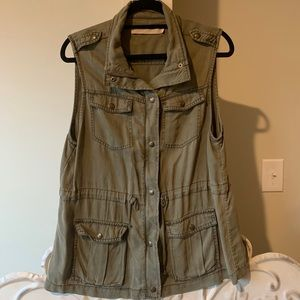 Army Green Layering Vest